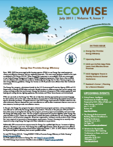 July 2011 HUD PIH Ecowise Newsletter